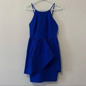 Lovely Day Royal Blue Peplum Dress in Large